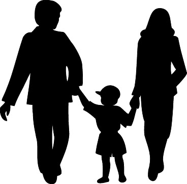 Family Clip Art - Family Clipart Black And White