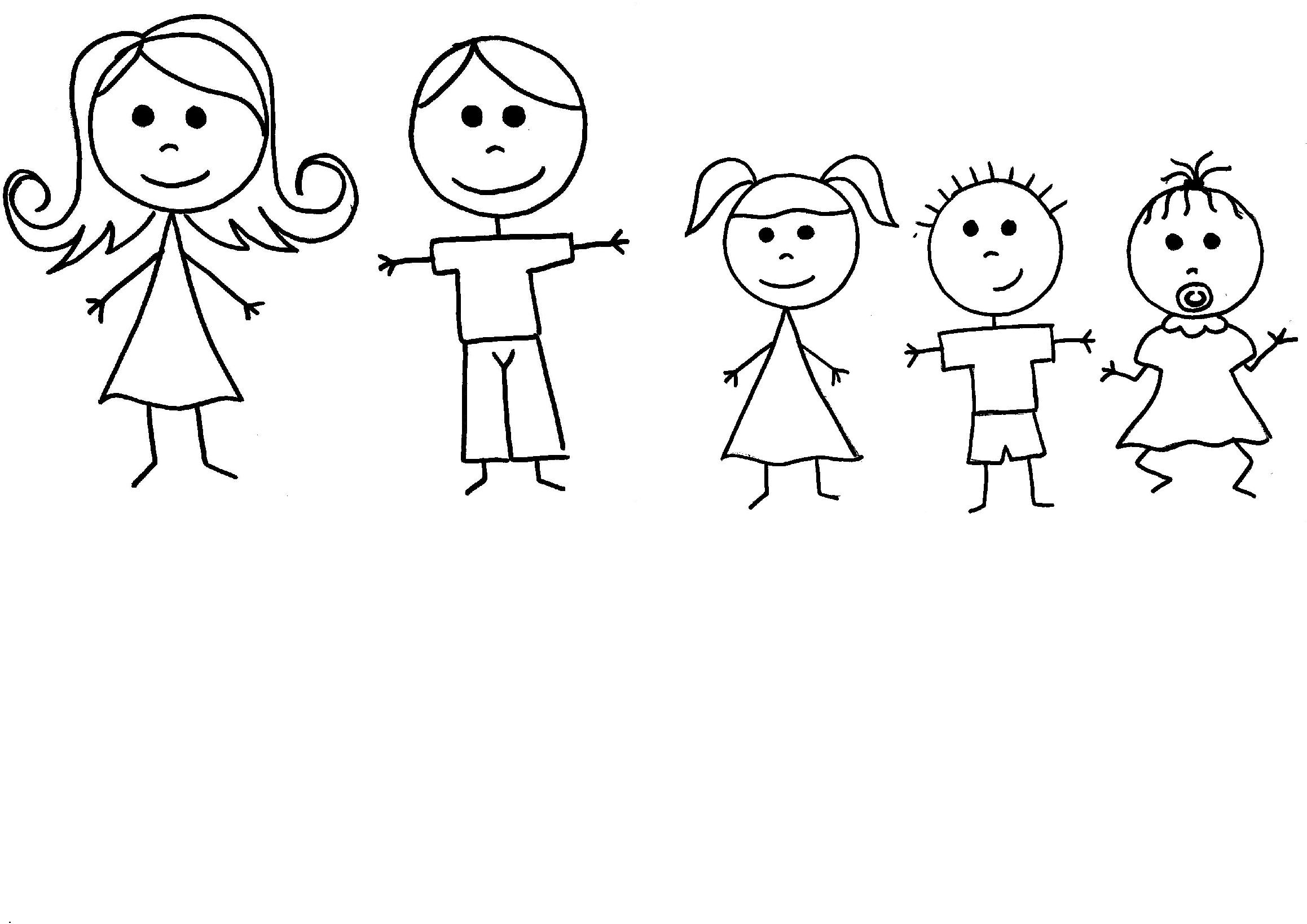 Family Clipart 5 People Stick People - G-Family Clipart 5 People Stick People - Gallery-4