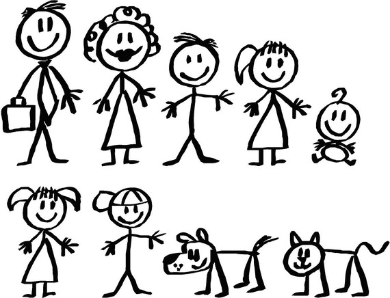 Family Clipart 5 People Stick People - G-Family Clipart 5 People Stick People - Gallery-5