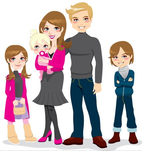 Family Clipart Clip Art Of A Happy Family Cli Family Happy Family