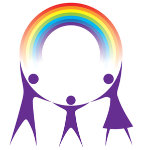 Happy Family Holding A Rainbow In Your Hands Vector Image
