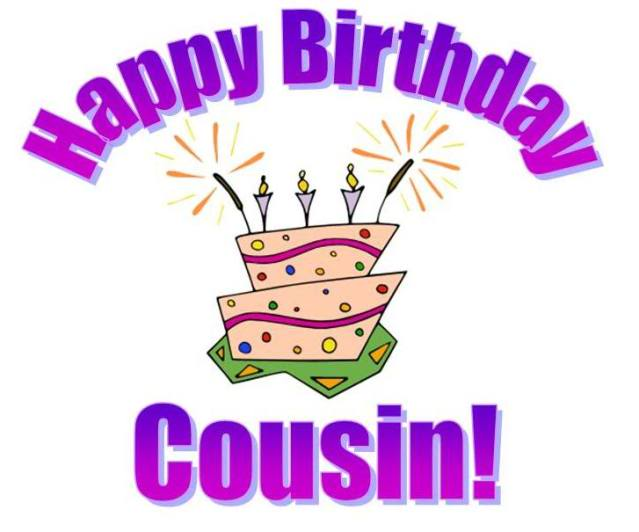 Family Cousin Happy Birthday  - Happy Birthday Cousin Clipart