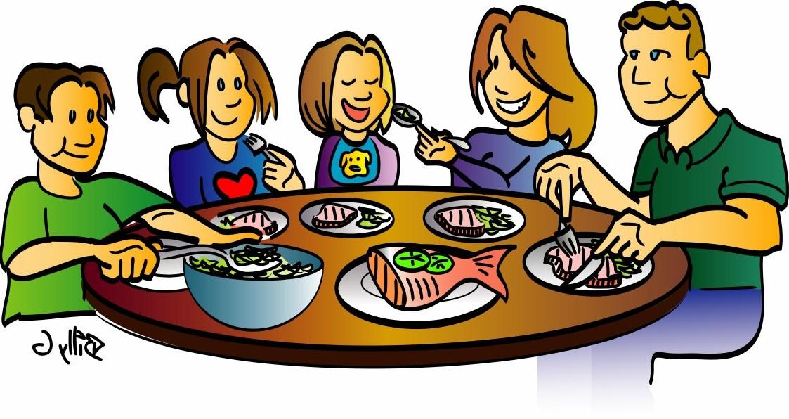 Family Dinner Clip Art