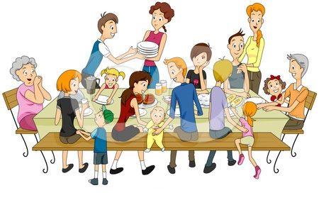 Family Eating Dinner Clipart. Being With-Family Eating Dinner Clipart. Being with family during .-5