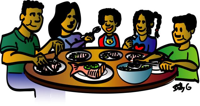Family Eating Dinner Clipart. Family Din-Family Eating Dinner Clipart. family dinner table% .-6