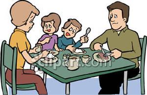 Family Eating Dinner Royalty Free Clipar-Family Eating Dinner Royalty Free Clipart Picture-8