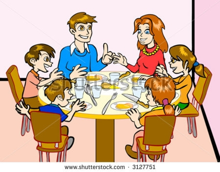 Family Eating Together Clipart-Family Eating Together Clipart-11