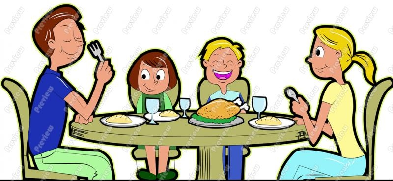 Family Eating Together Clipart-Family Eating Together Clipart-12