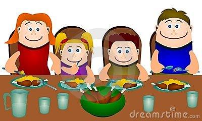 Family Eating Together.-Family eating together.-13
