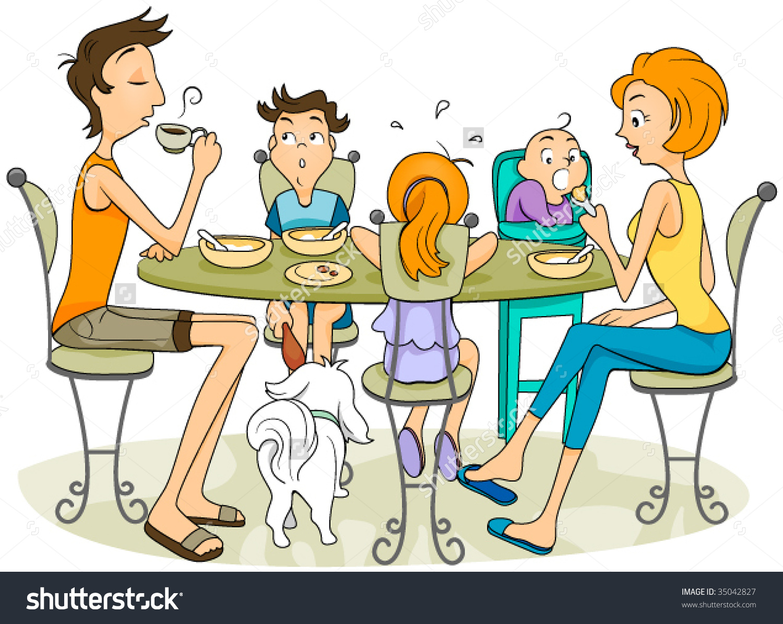 Family Eating - Vector .-Family Eating - Vector .-14