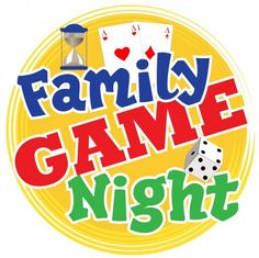 Family Game Night clip art . - Game Night Clip Art