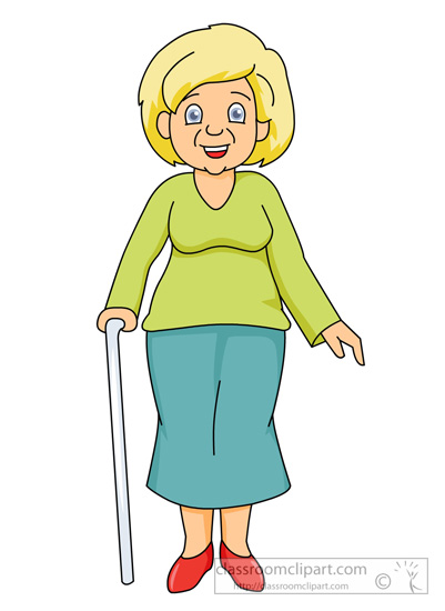 Family Grandmother With A Cane Classroom-Family Grandmother With A Cane Classroom Clipart-4