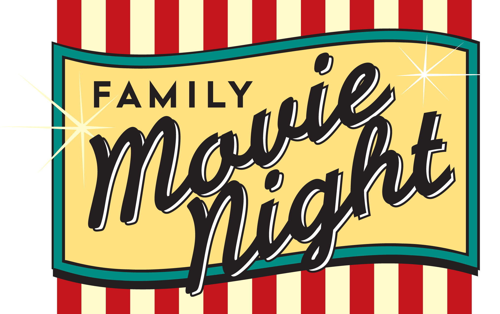 Family Movie Night Clipart