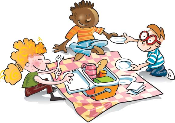 Family picnic clipart free clipart images