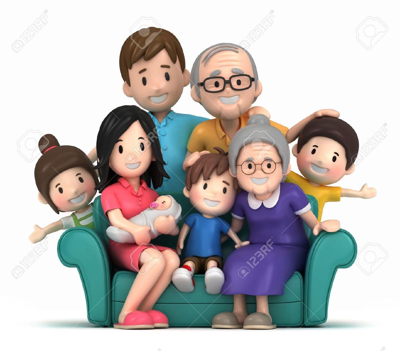 Family Portrait Cliparts Stock .-Family Portrait Cliparts Stock .-8