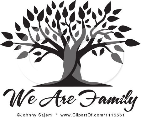 Family reunion tree with root - Family Reunion Tree Clip Art