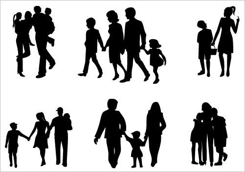 Family Silhouette Clip Art ..