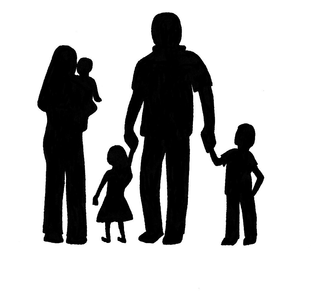 Family Silhouette - ClipArt .