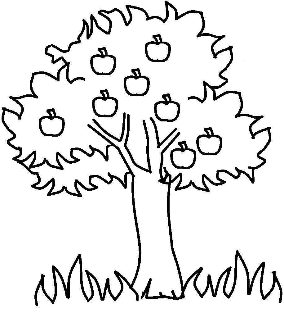 Family Tree Clip Art Black And White Printable Apple Coloring Pages