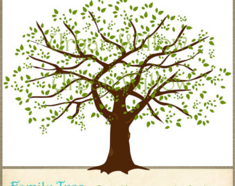 Family tree clip art tree .