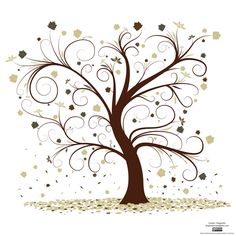 Family Tree Clipart #24221. Curly Tree Image-Maybe use .