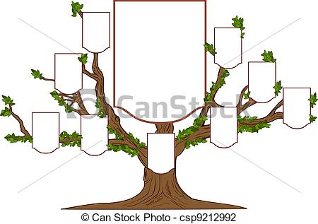 Family tree - Family . - Clip Art Family Tree