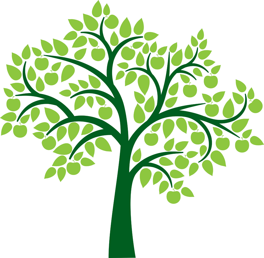 Family tree genealoy and - Clip Art Tree