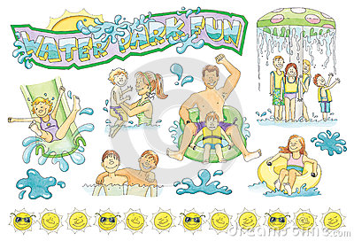 Family Water Park Clip Art