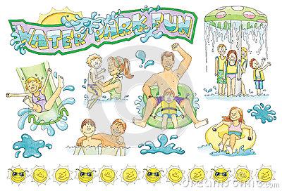 Family Water Park Clip Art-Family Water Park Clip Art-2