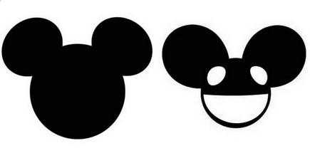 ... famous mickey mouse ears left deadmau5 headpiece right ...
