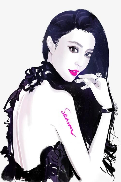 fan bingbing hand-painted fashion illustrator, Hand Painted Beauty, Painted  Girl, Fashion