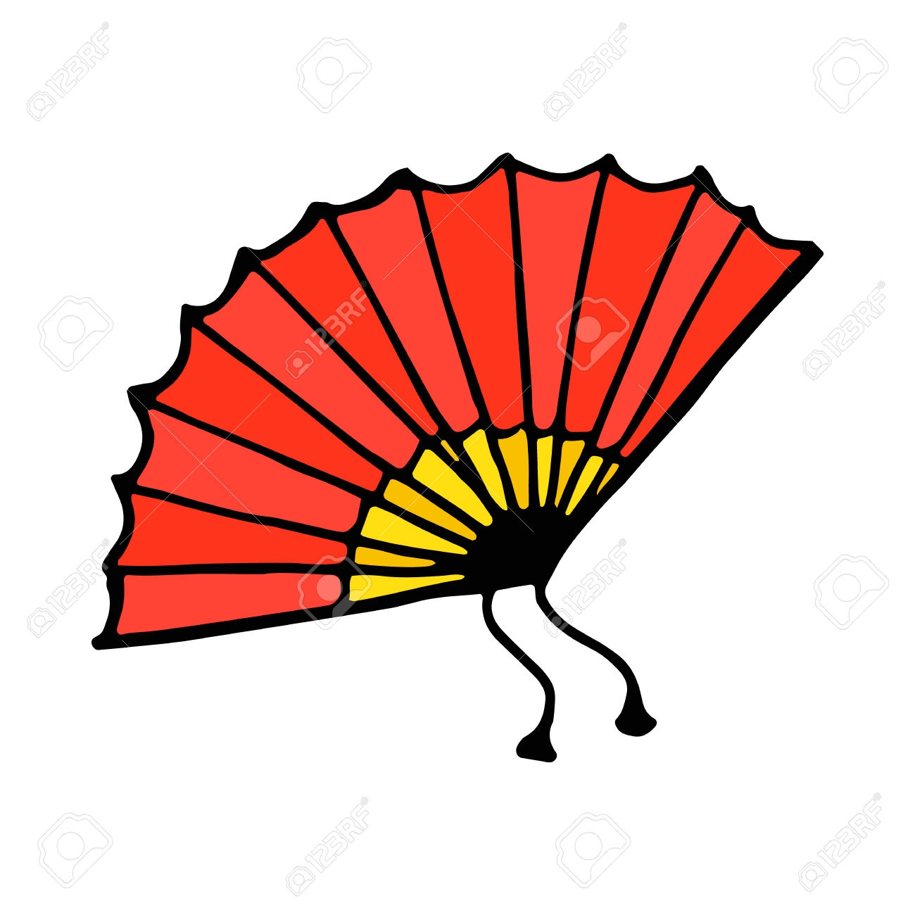 fan clipart - 3 - c - Fan clipart flamenco Pencil and in color fan clipart