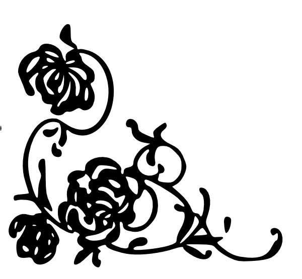 fancy corner scroll clip art