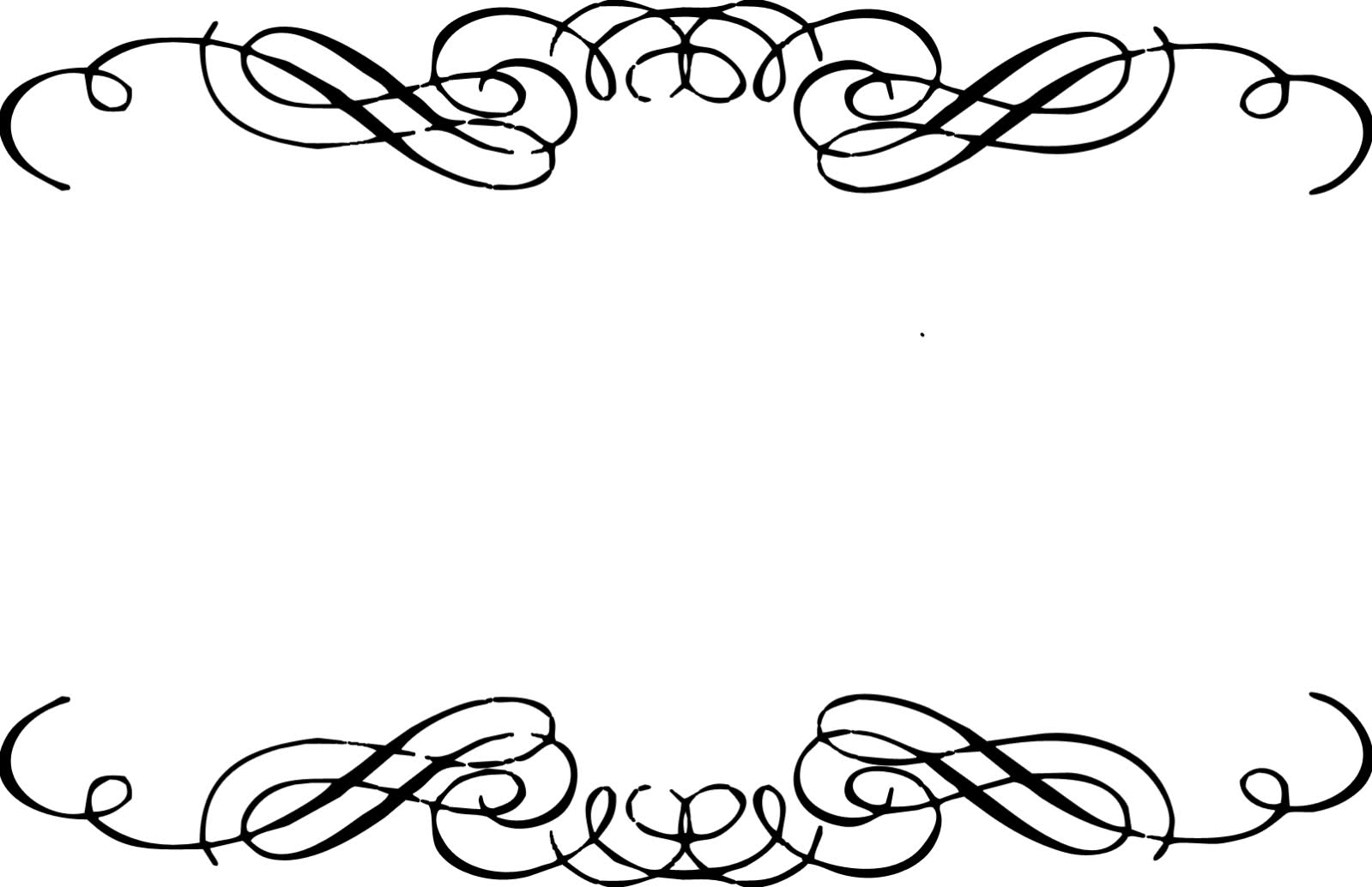 Fancy corner scroll clip art .