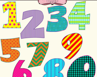 Fancy Numbers 1 20 Clipart Cl - Number Clip Art