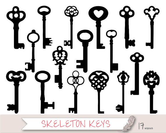 Fancy Skeleton Key Clipart-Fancy Skeleton Key Clipart-8