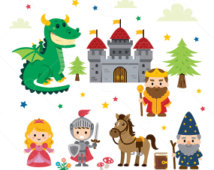 Fantasy Fairy Tale Clipart/ .