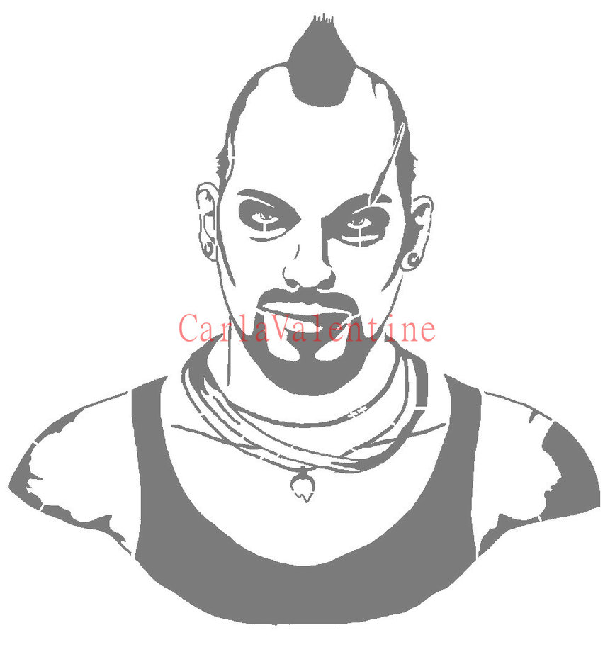 FarCry 3 Vaas Stencil by Carl - Far Cry Clipart
