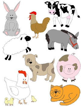 Farm Alphabet Clipart - Free Farm Animal Clipart