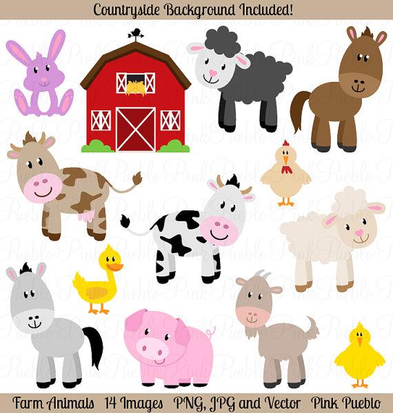 Farm Animals Clipart Clip Art Barnyard A-Farm Animals Clipart Clip Art Barnyard Animals Clipart Clip Art-3