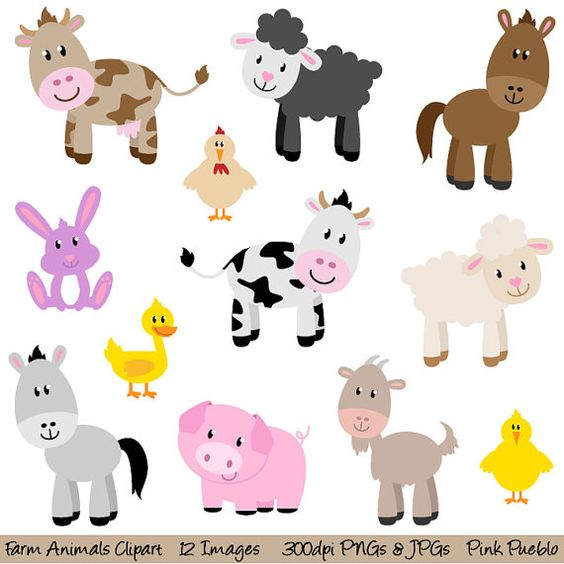 Farm Animals Clipart Clip Art, New Barnyard Animals Clipart Clip Art - Commercial and Personal