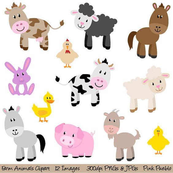 Farm Animals Clipart Clip Art, New Barny-Farm Animals Clipart Clip Art, New Barnyard Animals Clipart Clip Art - Commercial and Personal-0
