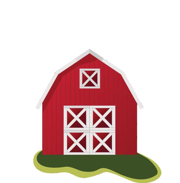 Farm barn clip art clipart clipartcow