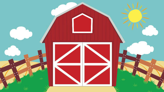 Farm barn clip art clipart image