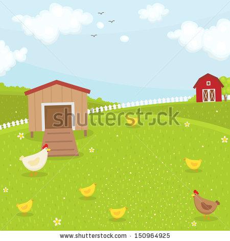 Farm Chicken Coop. Summer Time-Farm chicken coop. Summer time-15