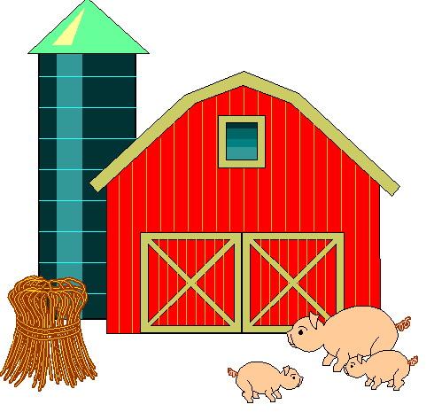 Farm Clip Art Red Barn Clipart