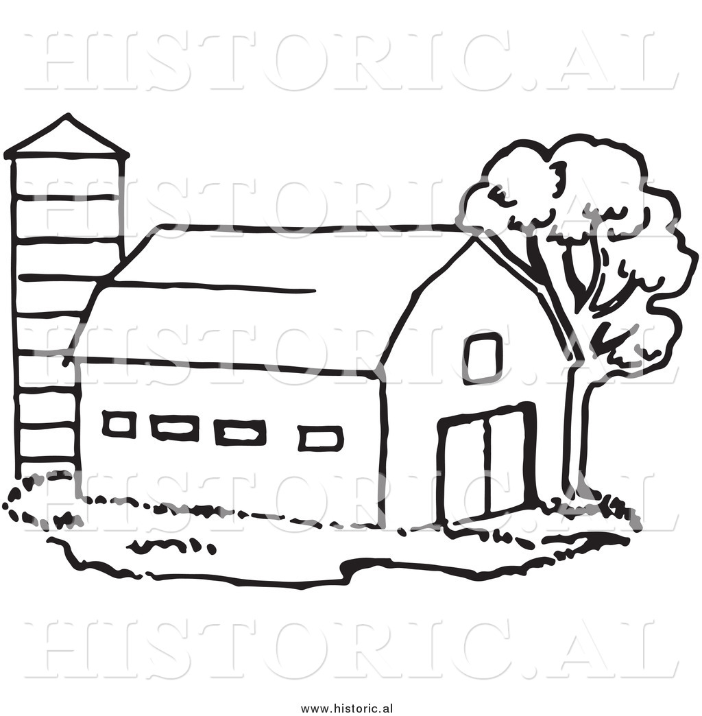 Farm Clipart Black And White Historical Clipart Of A Barn