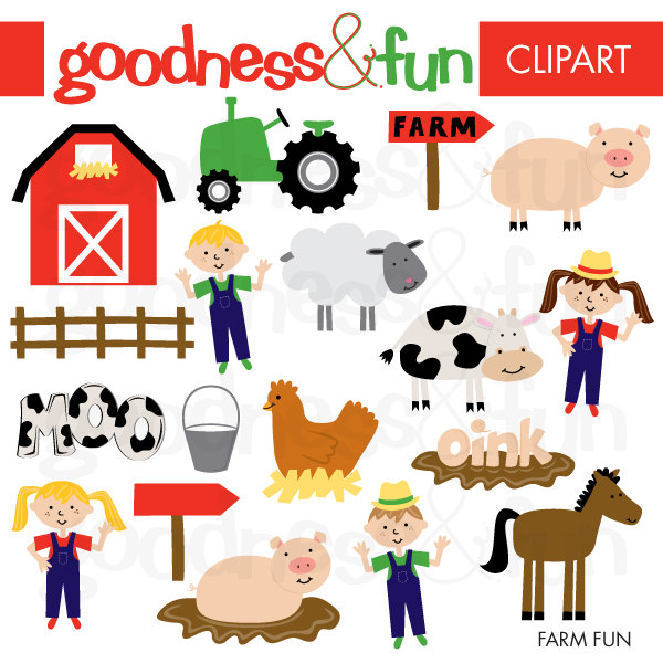 Farm Clipart - Instant.