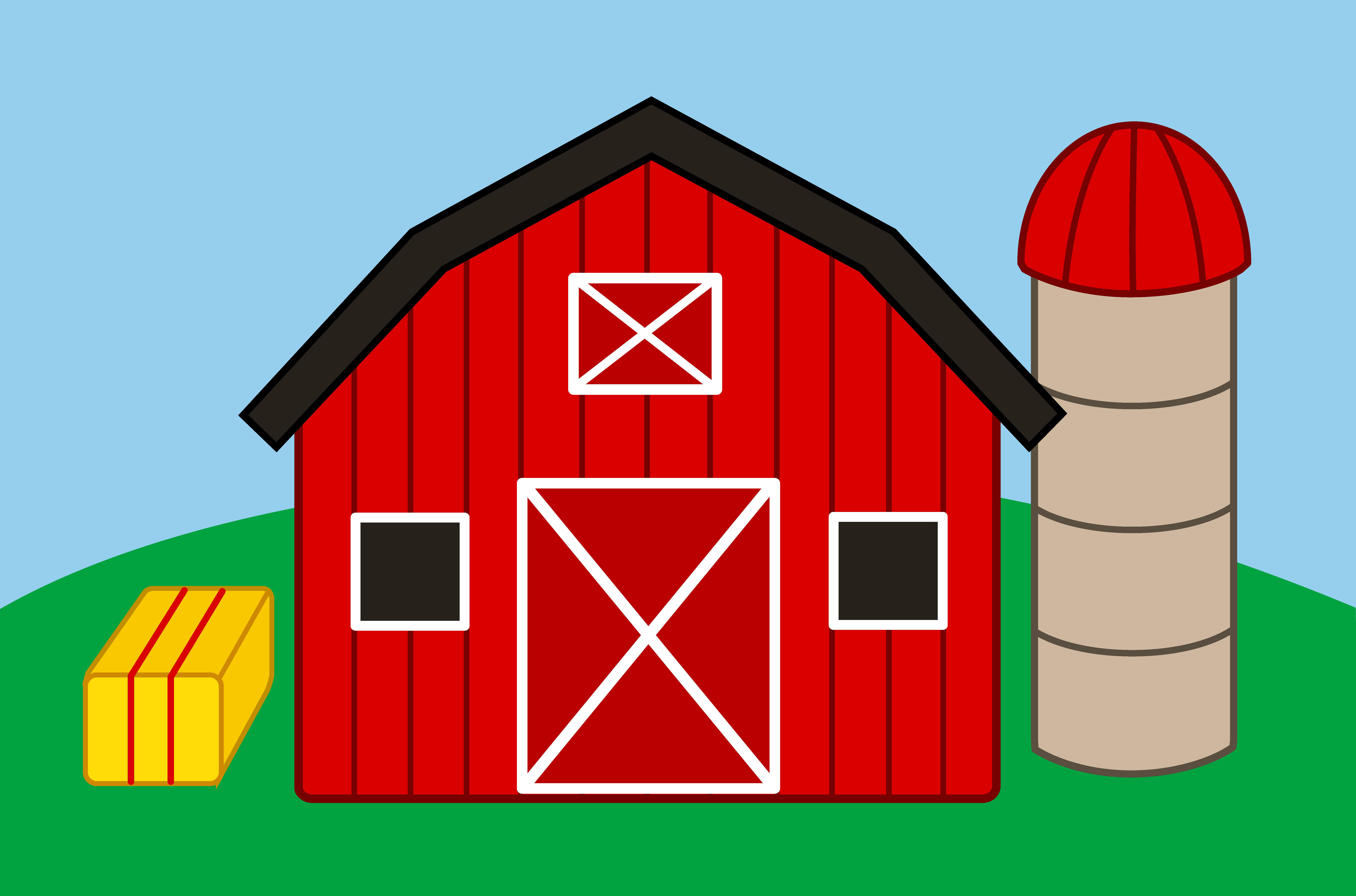 Farm House Cartoon Clipart #1-Farm House Cartoon Clipart #1-1