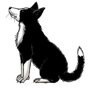 Farm Silhouette Clip Art | Farm Dog (Border Collie) -- Exploring Nature Educational